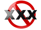 xxx adults only content sign 3d
