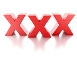xxx icon on white background