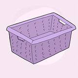 Purple Laundry Basket