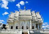 Thai temple called Wat Rong Khun at Chiang Rai, Thailand.