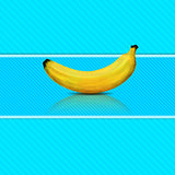 Banana on blue background