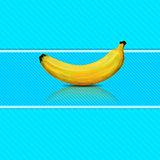 Banana on blue background