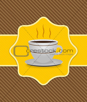 Card with coffee cup