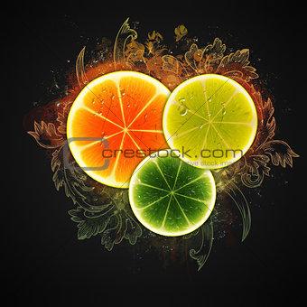 Citrus slices design