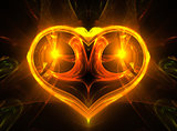 Glowing yellow heart