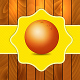 Orange on wooden background