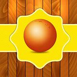 Orange on wooden background