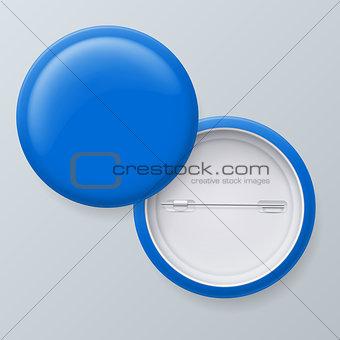 Blank Blue Vector Badges