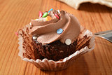 Dark chocolate cupcake