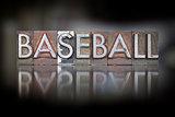 Baseball Vintage Letterpress