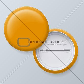 Blank Yellow Vector Badges