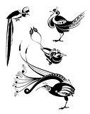 Original art bird silhouettes