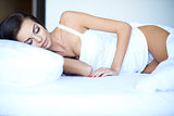 Attractive woman having a restful sleep
