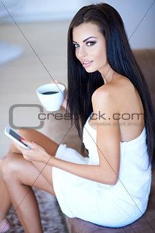 Beautiful woman enjoying a relaxing day