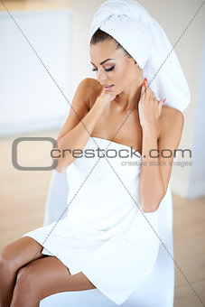 Beautiful woman at a spa