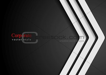 Abstract dark background with white arrows