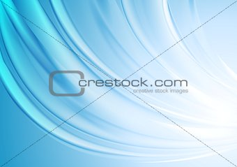 Bright blue wavy vector design