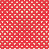 Seamless pattern red with hearts