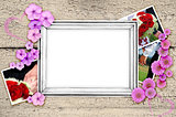 frame of wedding photos