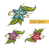 Colorful stylized flower for decoration
