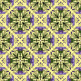 Seamless ornamental pattern with flowers and leaves