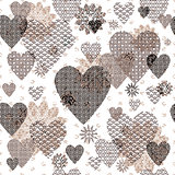 Seamless patterned Valentine