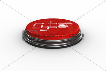Cyber against digitally generated red push button