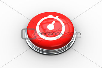Composite image of stopwatch graphic on button