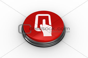 Composite image of tablet pc graphic on button