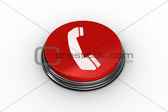 Composite image of telephone graphic on button