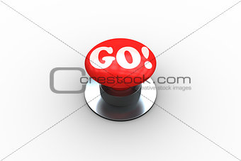 Go on digitally generated red push button
