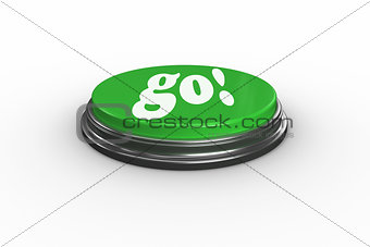 Go on digitally generated green push button