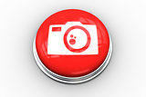 Composite image of camera graphic on button