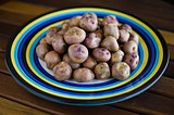 Andean potatoes on an elegant dish