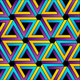 Background with Pen rose triangles