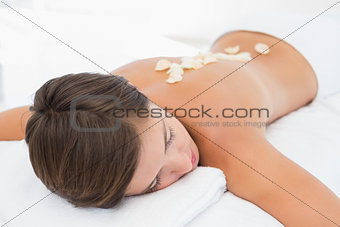 Beautiful young woman receiving a spa treatment