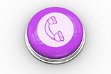 Telephone graphic on purple button
