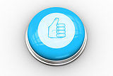 Thumbs up graphic on blue button