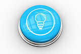 Light bulb graphic on blue button