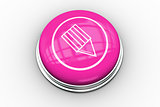 Pencil graphic on pink button