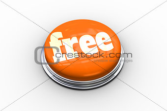 Free on shiny orange push button