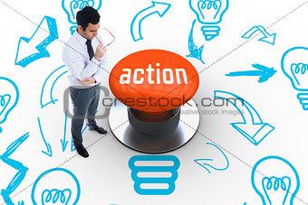 Action against orange push button
