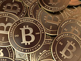 Bitcoin Pile Closeup