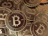 Bitcoin Pile Closeup