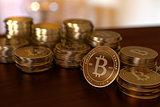 Bitcoin Stacks on Table