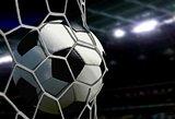 Ball in Goal Net with Stadium Spotlights