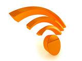 3d wifi icon