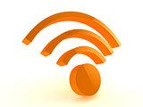 3d wifi icon.
