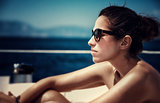 Beautiful female on the yacht