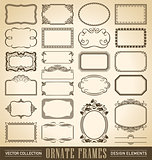 ornate frames set (vector)